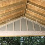 Rafters on the screened porch addition in Daphne, AL