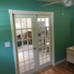 French doors added to room addition