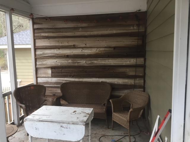 custom reclaimed barn wood accent wall