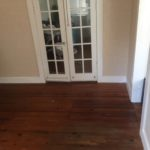Repaired floor matched to original flooring