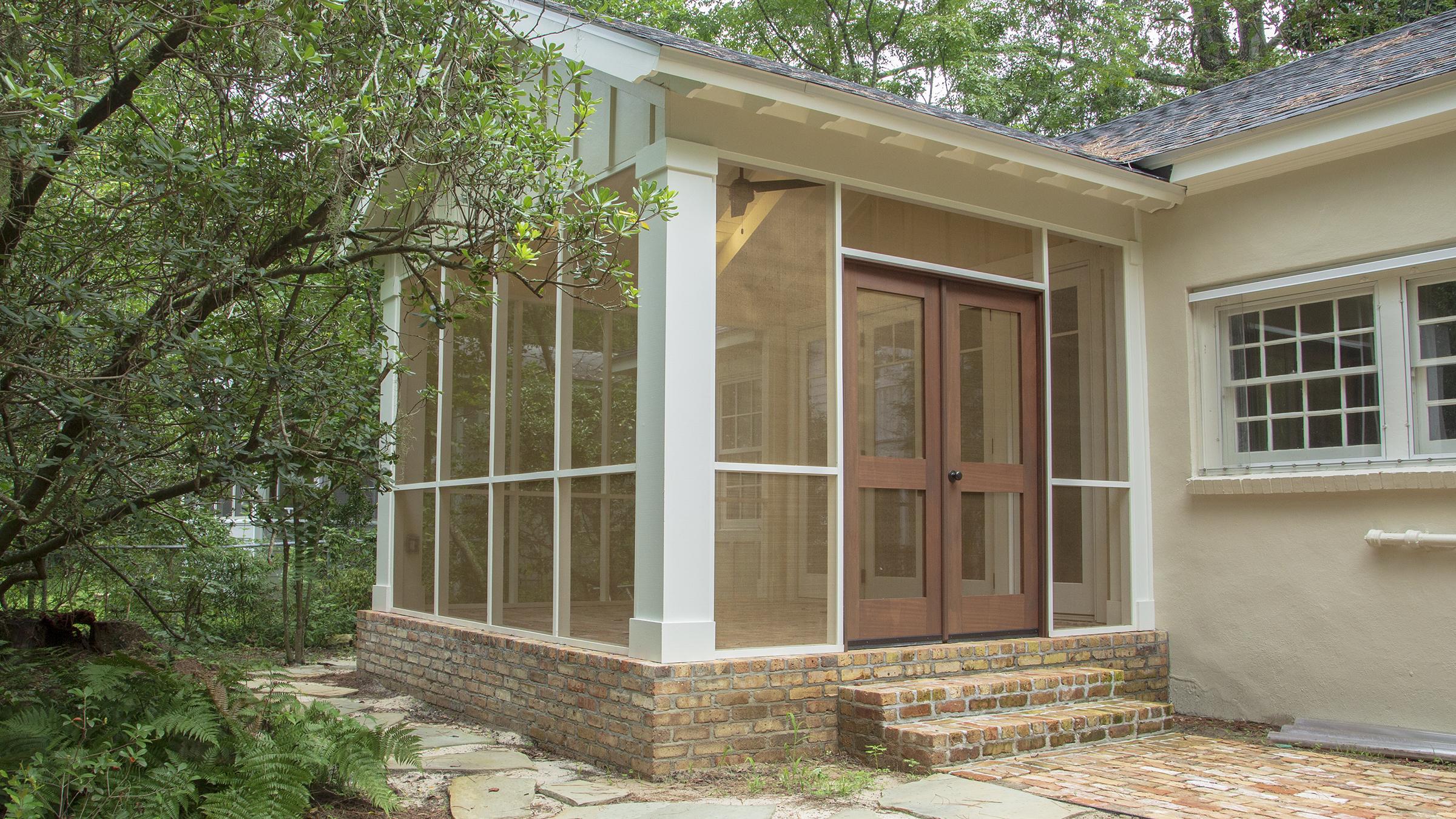 Custom screened porch